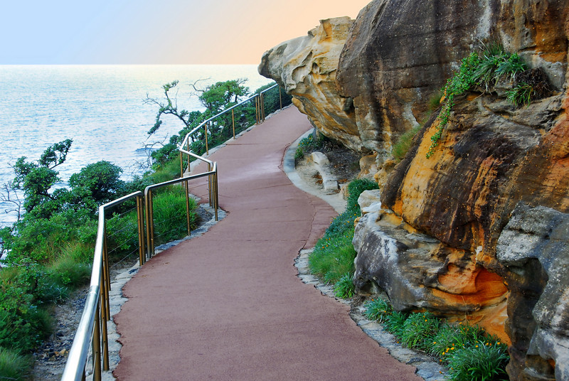 Just around the bend.  Walk near Bondi beach